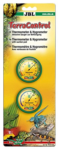 JBL 61517 Thermometer und Hygrometer inkl. Sauger für Terrarien, Terra Control