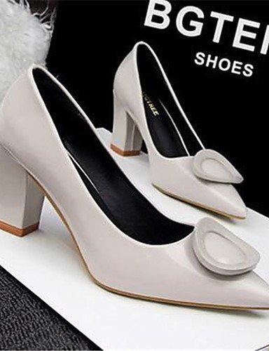 WSS 2016 Chaussures Femme-Habillé / Soirée & Evénement-Noir / Bleu / Rose / Violet / Rouge / Gris-Gros Talon-Talons-Talons-Similicuir blue-us7.5 / eu38 / uk5.5 / cn38