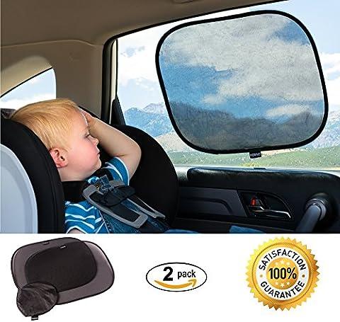 Auto Fenster Shades für Babys (2Pack)–statische Auto Sonnenschutz blockiert über 97% der schädlichen UV-Strahlen–Auto Sonnenschutz für Baby Schützen vor Schein & Hitze–lebenslange Garantie