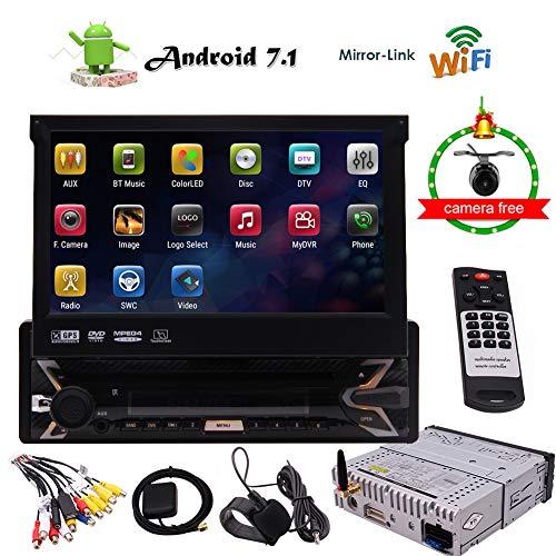 Android 7.1 Stereo Receiver 1 Lärm-Auto-DVD-Spieler GPS-Navigation mit Unterstützungskamera, 7