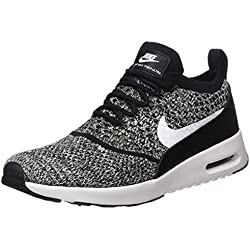 Nike Damen W Air Max Thea Ultra Fk Laufschuhe, Schwarz (Black/White), 39 EU