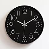 jqnxww clock Plastische stumme Wanduhr kreative Mode Wohnzimmer Stereo Digitale Wanduhr 12 Zoll