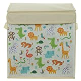 Canvas Aufbewahrungsbox mit Deckel Zoouniverse