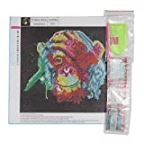 30 * 30CM Farbe Affe Stickerei DIY Needlework Diamanten überzogen 5D Malerei