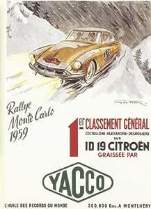 FRANZOSICH VINTAGE PLAKAT 50x70cm RETRO WERBUNG F1 MONTECARLO AUTORALLYE 1933