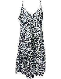 Sock Snob - Femme imprimé satin vêtements chemise de nuit / nuisette