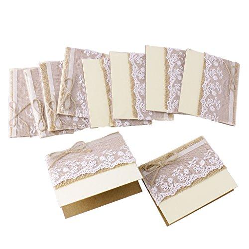 10x Vintage Hochzeit Partei Spitze-Tabellennummer / Einladung / Name / Platzkarten # 1