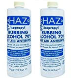 Haz 500 ml Isopropyl Rubbing Alcohol First Aid Anti Septic - Pack of 2