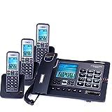 Phone Wireless-Telefon/Festnetztelefon Dual-Interface-Anrufer Lautstärkeanpassung Drei-Wege-Anruf (2 Stile) (Farbe : 3 handsets)