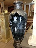 Bar Vitrine Amphore Vase Vasen mit Licht Regal Glasregal Bodenvase 6851 Medusa