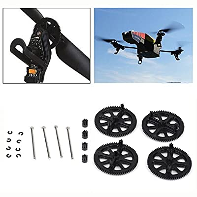 UNIKEL replacement Gears With Shafts and Circlips Set for AR.Drone 2.0( Pack of 4) from Flyfun-teck