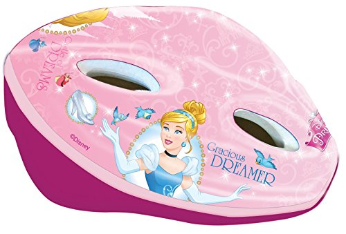 Disney Mädchen Princess Fahrradhelm Kinder, rosa, 53-58