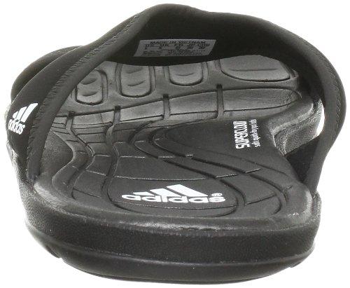 adidas Performance adiPure Slipper, Unisex-Erwachsene Dusch- & Badeschuhe, Schwarz (Black 1/Black 1/White), 40.5 EU (7 Erwachsene UK) -