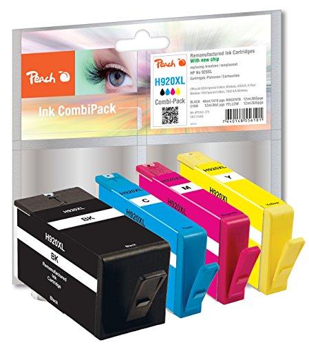 Preisvergleich Produktbild Peach H920XL bk, c, m, y Spar Pack Druckerpatronen mit Chip kompatibel, HP Nummer 920XL