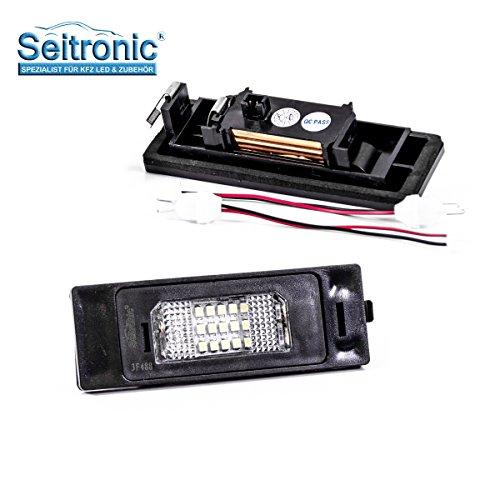 Luce a LED di ottima qualità, per targa, 2 moduli su misura per il vostro veicolo, non necessità di revisione, luminosissima, con marchio di controllo E