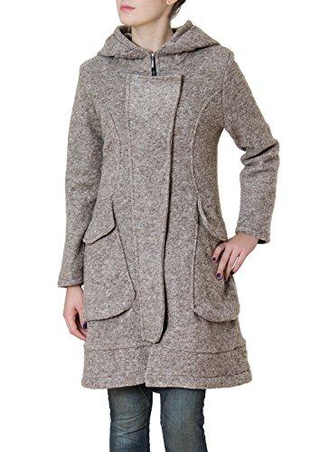 CASPAR MTL011 Damen Wollmantel, Farbe:grau;Größe:XXL