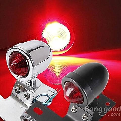 mark8shop de moto Bullet arrière frein Stop Lumière Lampe pour