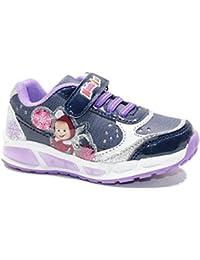 Dragon868 Scarpe bambini Cerimonia Scarpe Bambina con luci Strass Stelle Sneaker 21-30 (21, Oro)