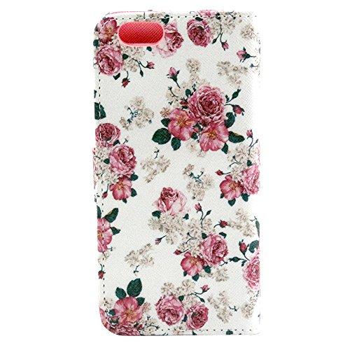 """EUDTH iPhone 6s Coque Peinture Style Housse Flip Cover Portefeuille Etui en Cuir de Protection Case vec B¨¦quille pour iPhone 6 6S 4.7"""" -YH07 YH15"""