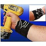 Pulsera muñequera magnética para herramientas para imantar tornillos, clavos, tornillos, pernos, etc. Ideal manitas, mecánicos, montadores, instaladores.
