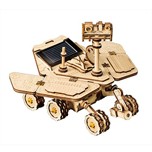 ROKR Solar Powered Toy Car-3D Puzzle de Madera Kits de Modelo - Juguetes Educativos con Energia Solar-Kit de construcción de Modelo mecánico para Adolescentes y Adultos (Spirit Rover)