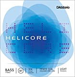 D\'Addario Bowed Jeu de cordes pour contrebasse hybride D\'Addario Helicore, manche 3/4, tension Light