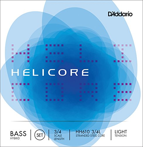 D'Addario HH610-3/4L Helicore Kontrabass Saitensatz mehrfach verdrillter Stahlkern 3/4 Light