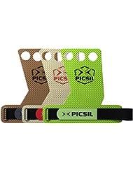 PICSIL AZOR Grips 3H - Calleras para Crossfit Grips Gymnastics, Pullups, Weight Lifting,