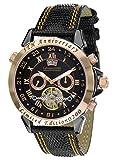 Calvaneo 12544 - Orologio da polso, cinturino in pelle colore nero