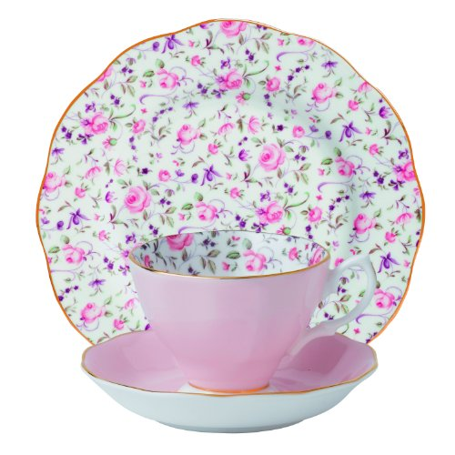 Royal Albert New Country Roses Teetasse 3-teilig ROSE CONFETTI 3-PIECE SET (TEACUP, SAUCER & PLATE) Rose Confetti Royal Roses
