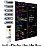 villexun Weekly Dry Erase Kühlschrank Whiteboard Menu Planner, Verwendung als Planer Kalender, magnetisch, Mahlzeit, Lebensmittels, zu tun oder pflanzengießen Liste magnet