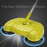 Acier inoxydable poignée daris balayeuse de type Push Magic Machine de nettoyage des ménages part pousser Balai robot porte-poussière