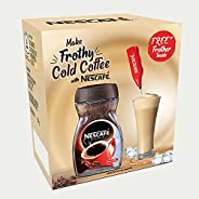 NESCAFÉ Frothy Cold Coffee Kit (NESCAFE Classic Instant Coffee with Free Frother) – 200g Dawn Jar, 200 g with