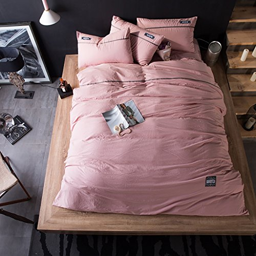 LongYu Bettwäsche Quilt Simple Home Textile Bettfutter Washed Cotton Vierteiliges Set Kann sich den Ball nicht leisten Exquisite Soft Bequeme (Color : F, Size : 200*230cm) (Cotton Soft Tröster)