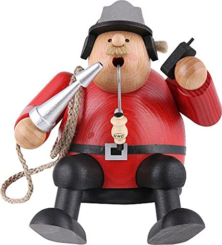 German Incense Smoker Fireman - 15 cm / 6 inches - Authentic German Erzgebirge Smokers - KWO