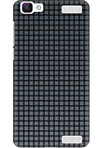 Amez designer printed 3d premium high quality back case cover for Vivo V1 Max (Gray Mesh)