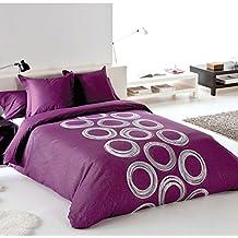 Reig Martí Ares - Juego de funda nórdica jacquard, 3 piezas, para cama de 135 cm, color morado