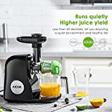 from Aicok Aicok Slow Masticating Juicer Extractor, Reverse Function, Quiet Motor, with Juice Jug and Cleaning Brush, High Nutrient Fruit and Vegetable Juice, Black Model AMR521