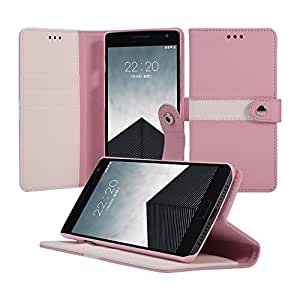 OnePlus Two Case, ACEABOVE [Stand Feature] OnePlus 2 Wallet Case NEW [Book Cover Case] [Pink] - PU Wallet Leather Case with STAND Flip Cover and Credit Card ID Holders for OnePlus Two (2015) Model