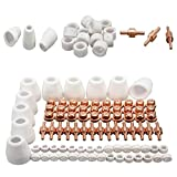85pcs Luft-Plasma-Schneidemaschine Schneidbrenner Elektroden Düsen Tipp Shield Schalen Kit Ersatz für CUT-50D CUT50 CT-312 Kakiyi
