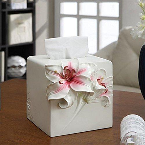 ZYT Europeo moda creativa semplicità pastorale resina carta velina pompaggio remoto cremagliera di carta scatola di pompaggio . b