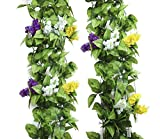 Hängende Kunstpflanzen Efeu Girlande Künstlich in drei Farben (Weiß)