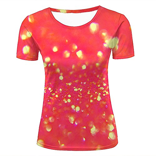 qianyishop Womens Casual Design 3D Printed Sparkle Psychedelic/Abstract Abstraction Bokeh Graphic Short Sleeve Couple T-Shirts Top Tee XS (Skirt Print Abstract)