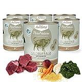 aniforte® purena Ture bagnato Imbottitura 800G Wild Buffalo cibo per cani della Natura del prodotto per cani (saftiger bufala, 6X G)