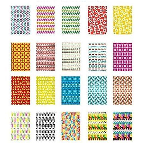 80Pcs Decoración DIY Instax cámara películas Fronteras Sticker para Fuji Instant Mini 8, Mini 7S, Mini 50s, Mini 90, Mini 25, Mini 70películas–Scandi