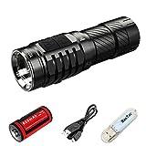 WUBEN TO10R (T010R) EDC Taschenlampe 650 Lumen HCRI kleine Taschenlampe 3 * CREE XP-G3 LED kühles Weiß 5500k 90 CRI Portable Taschenlampen USB wiederaufladbare Taschenlampe mit 16340 650mAh Li-Ionen-Akku und USB-Lampen