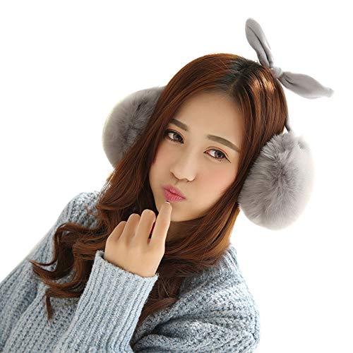 Rentier Kostüm Tanz - ZEELIY Damen Rabbit Ear Hat Lustige Plüsch Tier Ohr Hut Spielzeug mit Beweglichen Ohren Cosplay Kostüm kann Airbag Magnetkappe Plüsch Geschenke Tanz Spielzeug