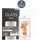 Abestbox® Protector de Pantalla iPhone 8 Plus 7 Plus 6 Plus 6S Plus Cristal Templado de Cristal Protector, Espesor 0.26mm 9H Premium HD (3 Paquetes)