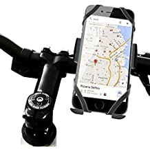 Color Dreams® Soporte móvil bicicleta o motocicleta universal extraseguro con triple sujeción para todo tipo de teléfonos móviles como Iphone SE 6S 6S plus 6 6 plus 5 5S 5C 4 4S , Samsung Galaxy S7 / S6 / S5 / S4 / Note 4/3 , Sony, BQ, Motorola, Google Nexus, LG G3 y muchos otros teléfonos o dispositivos GPS