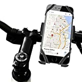 Color Dreams® Bike phone Holder, bicycle or motorcycle mount holder extra insurance with three fixations, PVC high durability, compatible with all handlebars and for all mobile phones iPhone SE, 6S, 6S Plus, 6, 5S, 5, 5C, 4S, Samsung Galaxy S7, S6 Edge, S6, S5, S4, S3, Note 4, 3, 2, HTC One X, V, S M9, M8, LG, Sony, Nexus 5, 6, 7, 8, 9, 10, Motorola, Blackberry, GPS and other mobile phones. Black